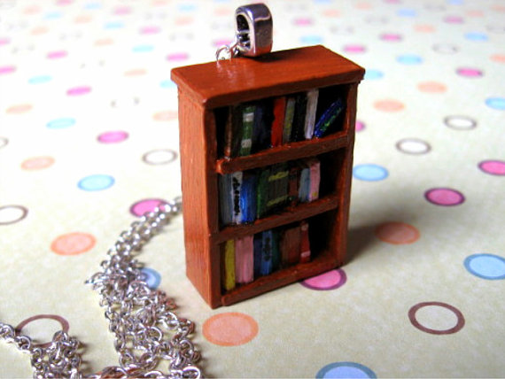 first bookshelf necklace