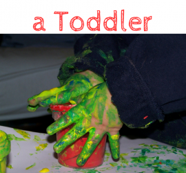 Top Tips for Painting with a Toddler, for the mess-averse parent! These tips for painting with children should make it easier and less messy!