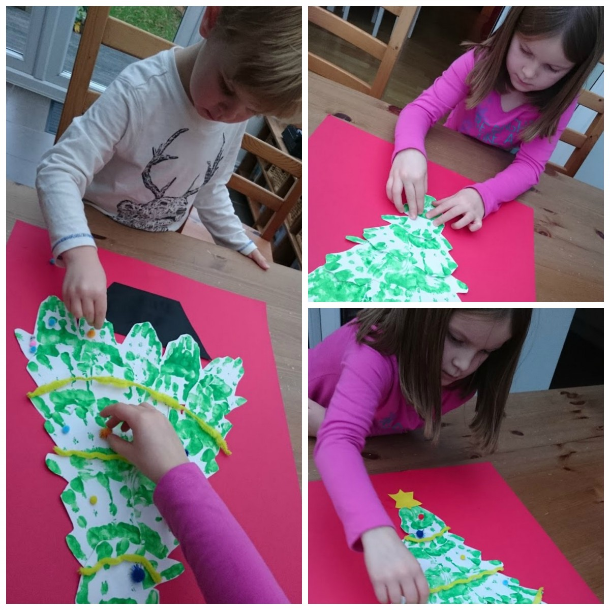 Handprint Christmas Tree decorating