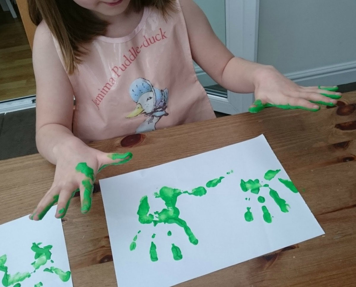 Making handprints