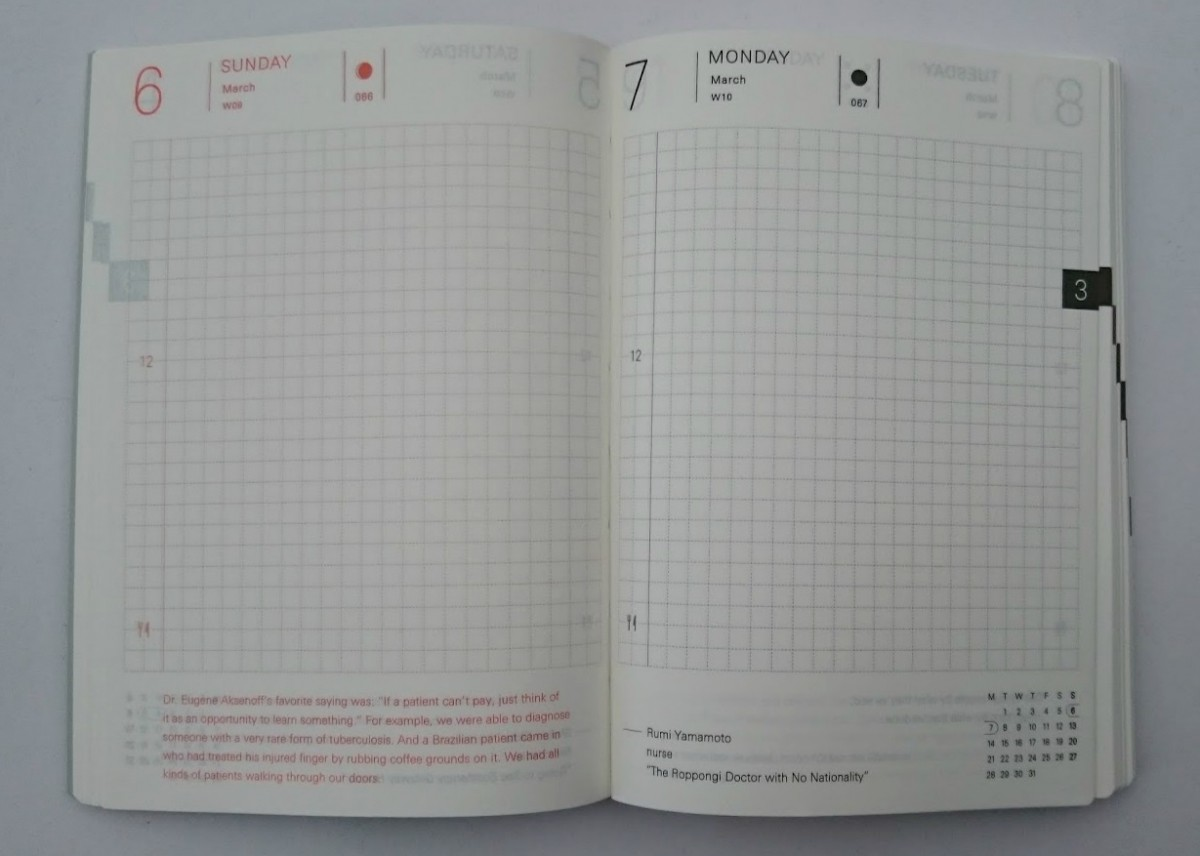 Page a day inside a Hobonichi Techo Planner