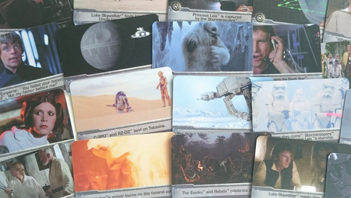 Timeline Star Wars cards