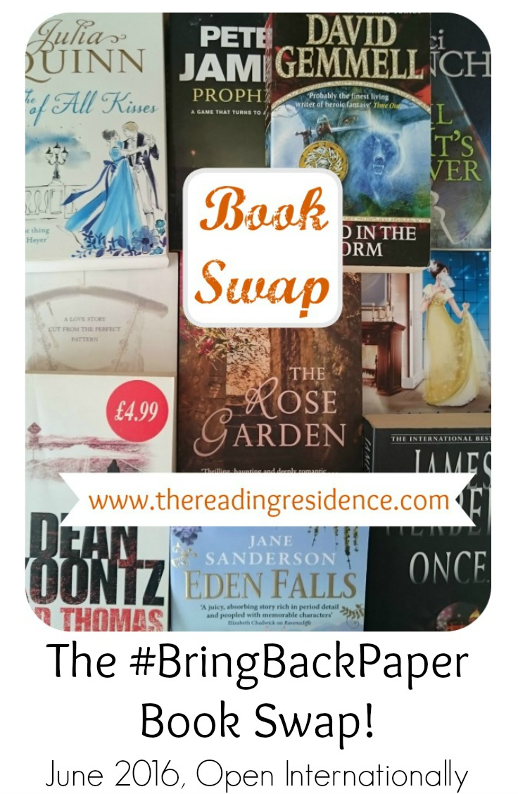 Bring Back Paper Book Swap June 2016
