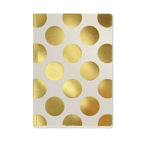Gold polka dot shimmer A5 notebook