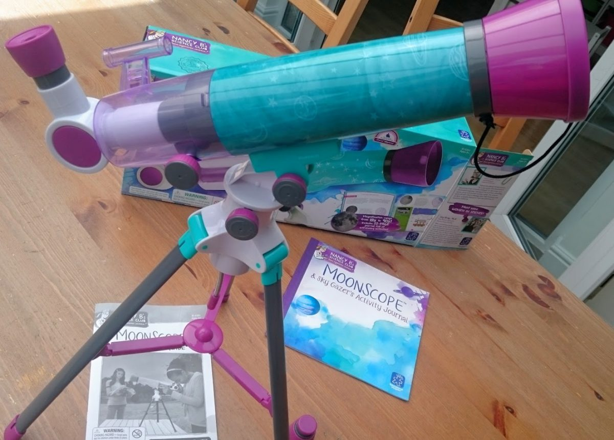 Nancy Bs Science Club Moon Scope assembled