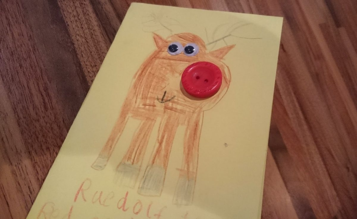 Rudolph with a Button Nose