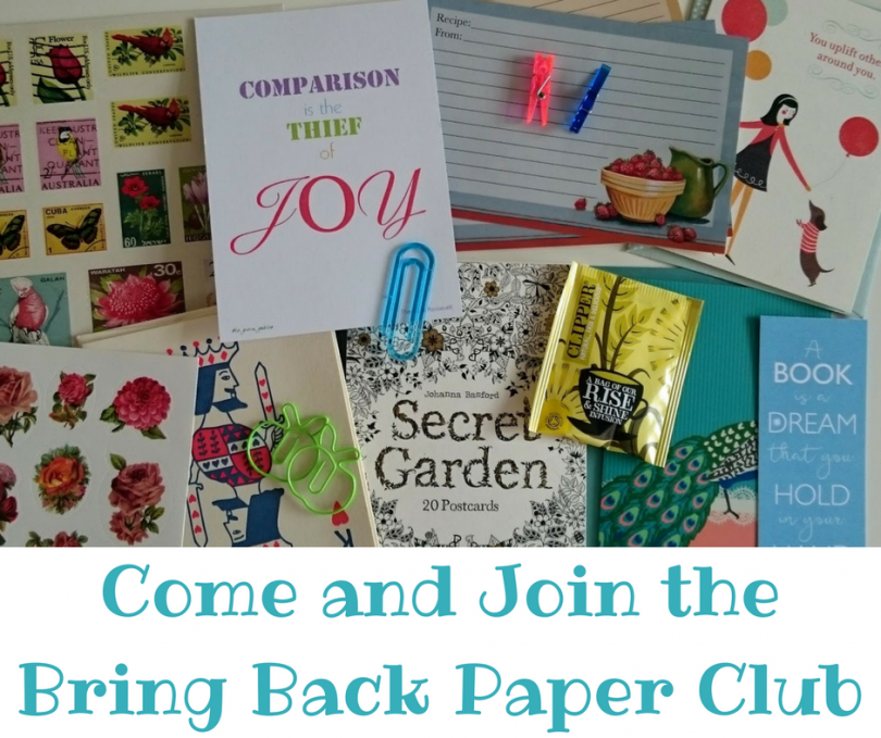 Come and join the bring back paper club