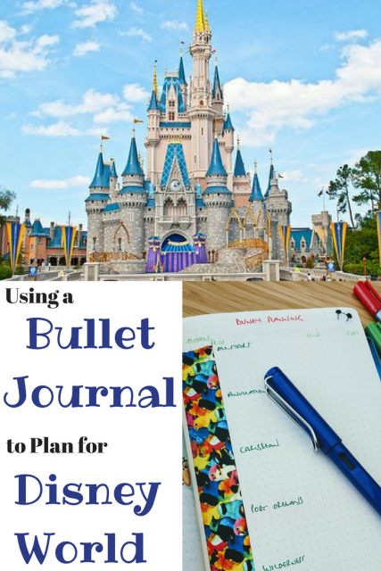 Using a Bullet Journal to Plan for Disney World