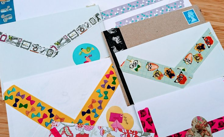 Pretty envelopes for snail mail